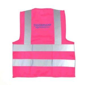 Diggerland pink construction vest back