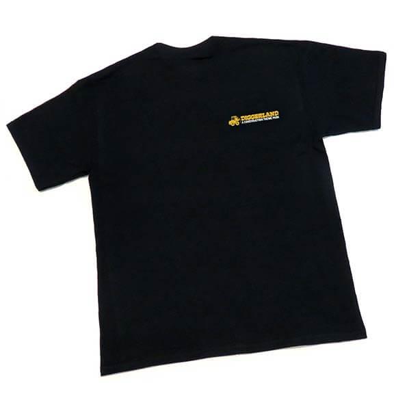 Diggerland black t-shirt with logo