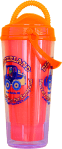 Side of Diggerland refillable souvenir cup