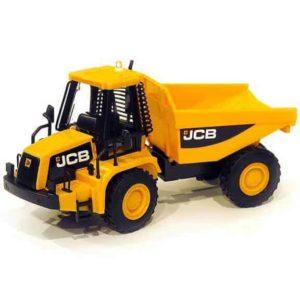 JCB dumper truck side with bucket down