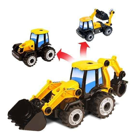 JCB multi construct backhoe loader side of transformable trucks