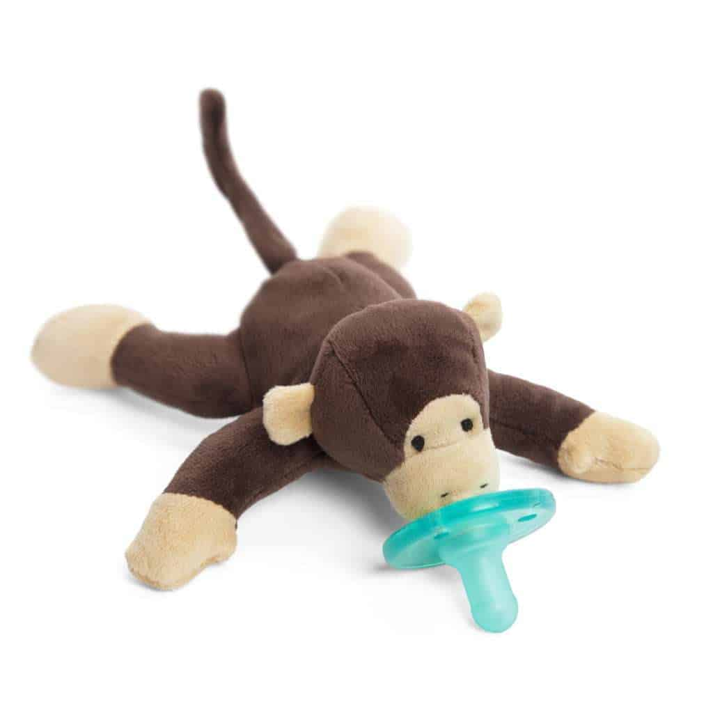 Pacifier with stuffed animal attached