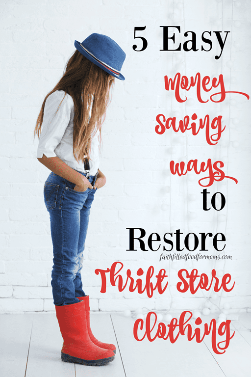 We love trending fashion outfits (my teens especially), that we find at thrift stores! We'll stop at nothing when we see what we want! What if there is a tiny problem though..but a great price? These 5 little DIY clothing secrets will help you Restore almost any Thrift Store Clothing piece!