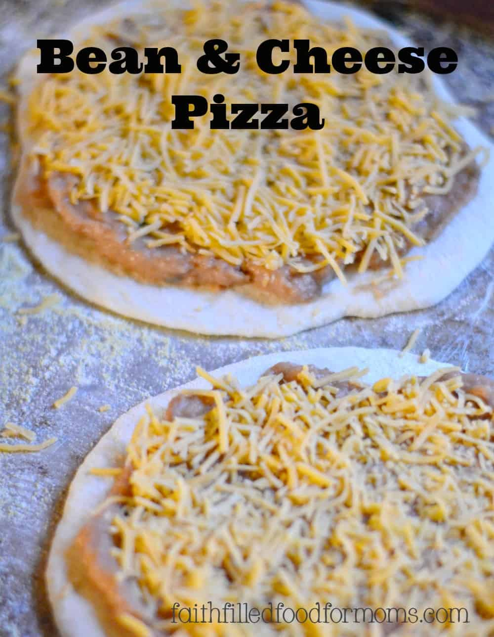 Personal Bean and Cheese Pizza
