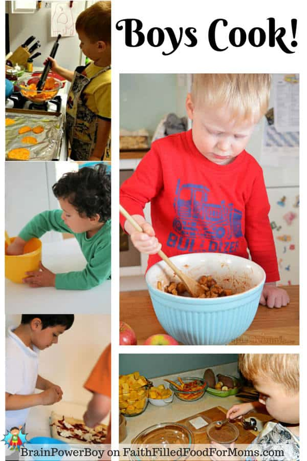 Boys' Learning with Cooking