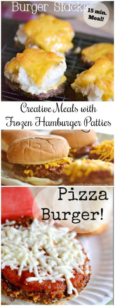 Creative Meals With Frozen Hamburger Patties