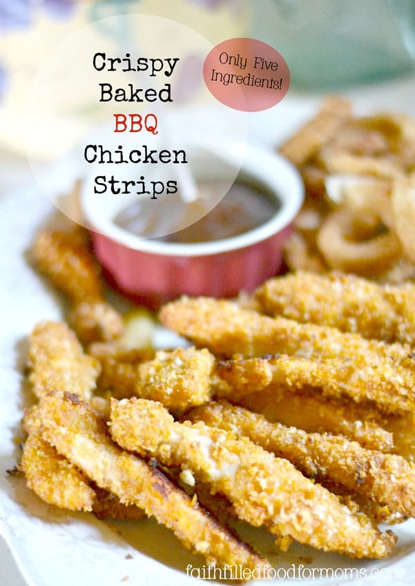 Crispy Baked BBQ Chicken Breast Strips