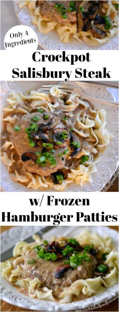 Crockpot Salisbury Steak with Frozen Hamburger Patties