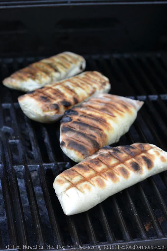 Grilled Hawaiian Hot Dog Hot Pockets