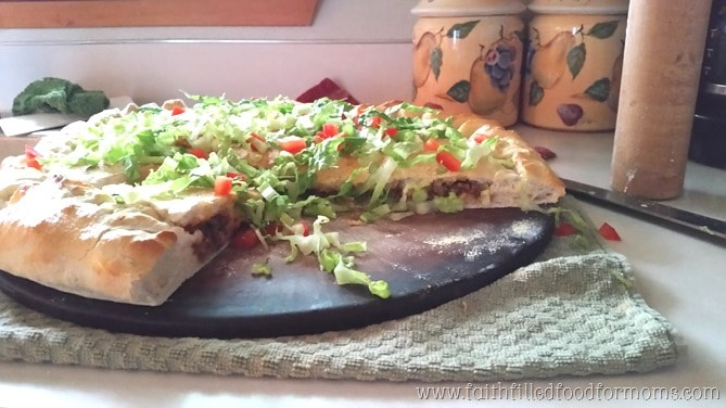 Double Decker Taco Pizza ~ Budget Friendly Meals