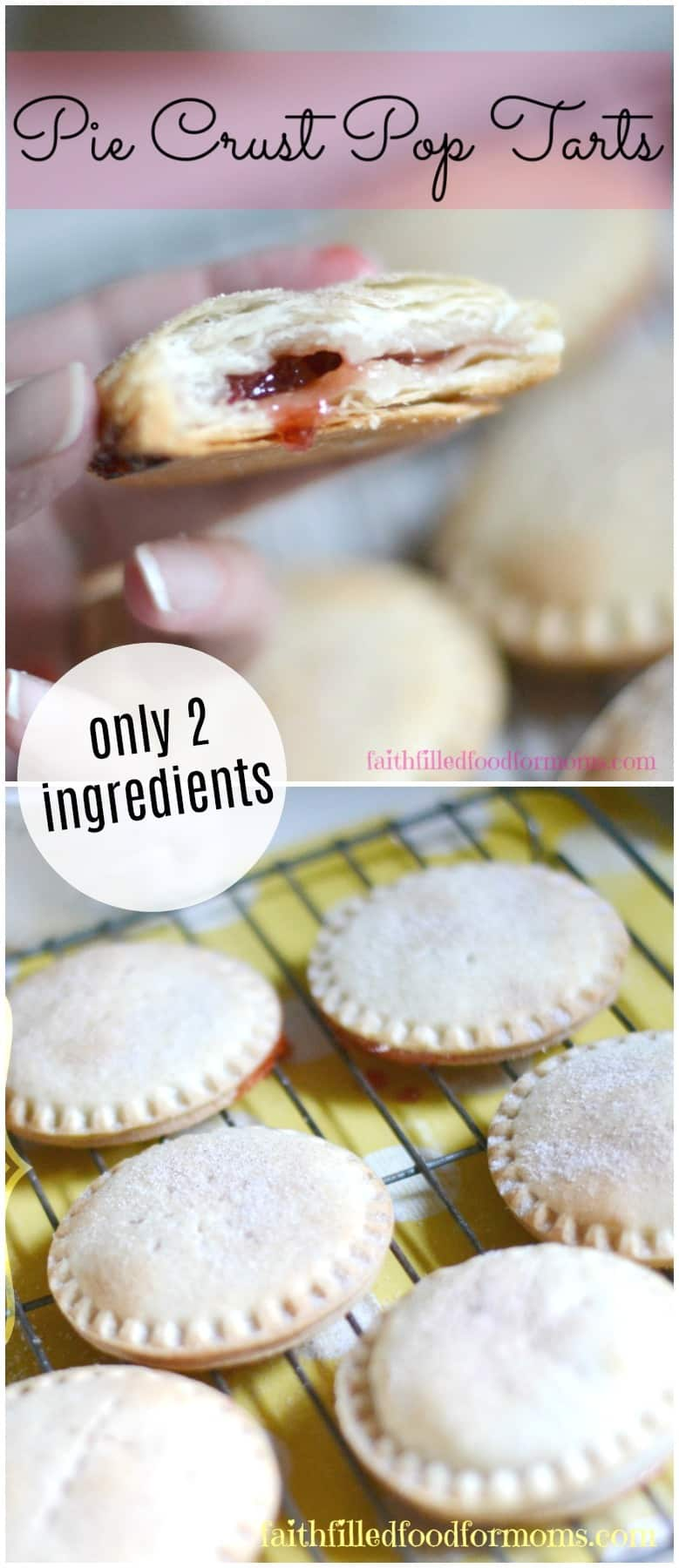 Easy Pie Crust Pop Tarts. Made in minutes and only 2 ingredients!