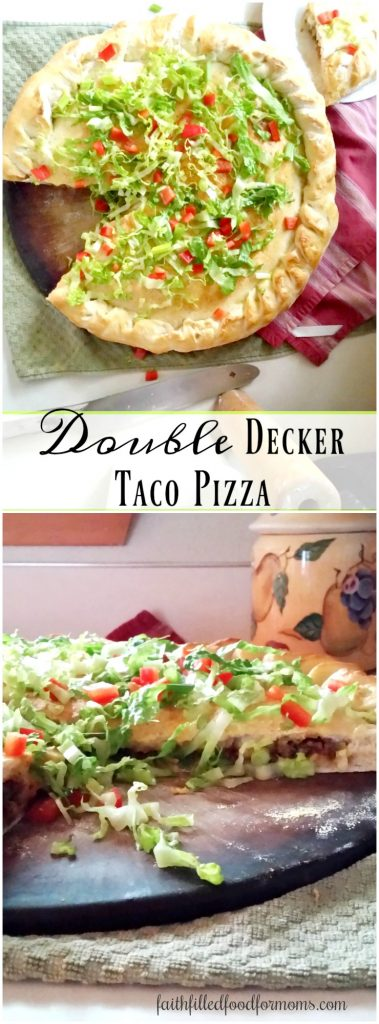 Easy to make Double Decker Taco Pizza
