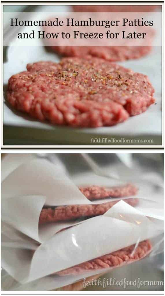 Homemade Hamburger Patties and How to Freeze for Later