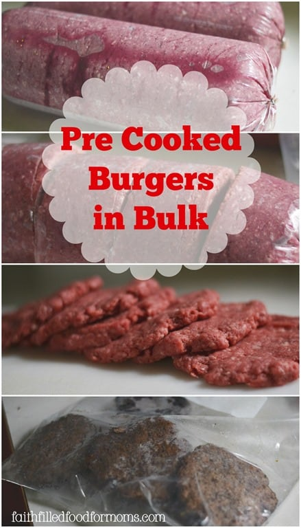 Homemade pre-cooked Burgers in Bulk