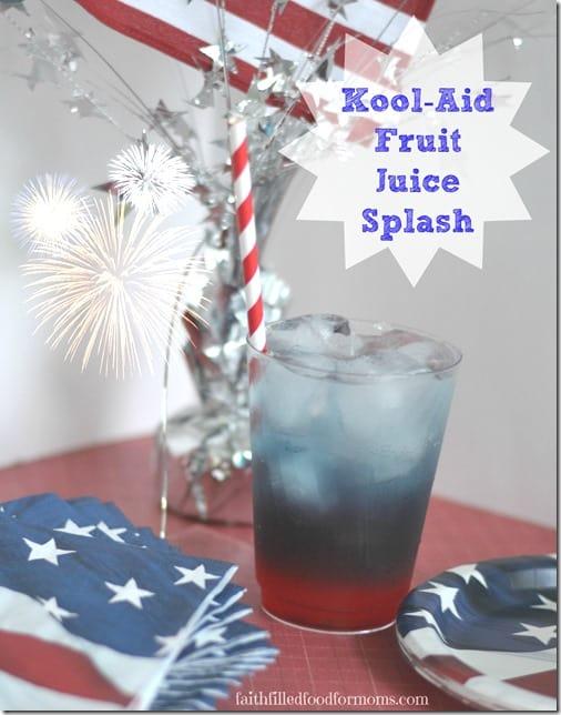 #KoolOff 4th of July Kool-Aid Fruit Juice Splash
