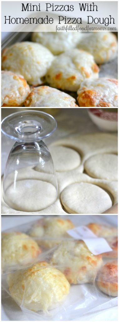 Mini Pizzas with Homemade Pizza dough for snacks