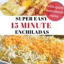Super easy 15 minute Enchiladas