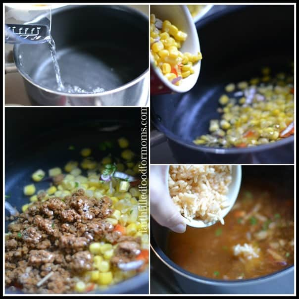 Taco Soup Collage