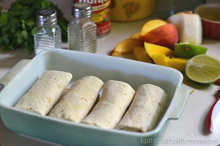 Quick Easy Enchiladas with Frozen Burritos