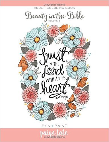 trust in the Lord coloring book