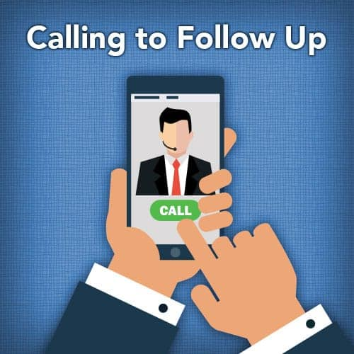 Calling to Follow Up on Your Application