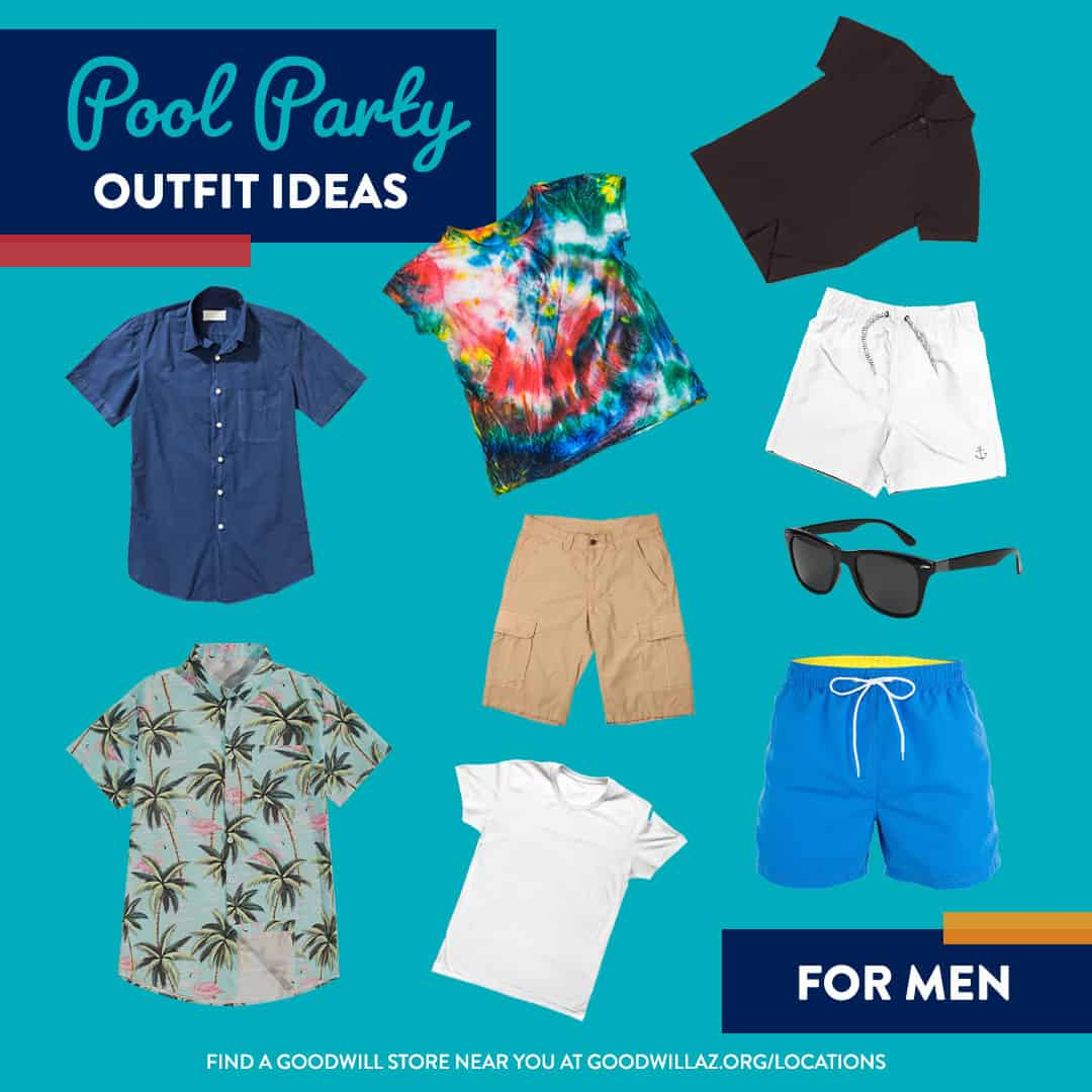pool party thrift store outfit ideas at Goodwill