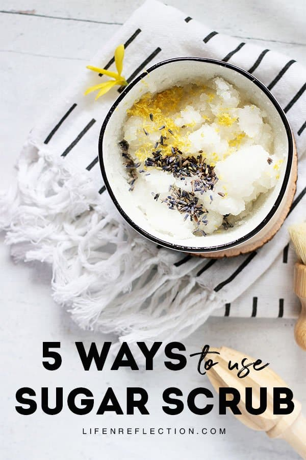 Not just for your hands - this easy sugar scrub recipe can be applied anywhere to smooth and hydrate dry, rough skin. Don't miss my tips on how to use a sugar scrub in five different areas for head to toe softness!