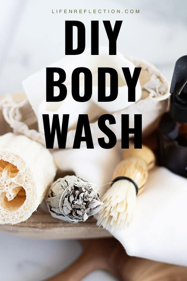 Soothe your skin with a powerfully fragrant natural DIY body wash made with chamomile and lavender. It's the best zero waste body wash I've ever used!