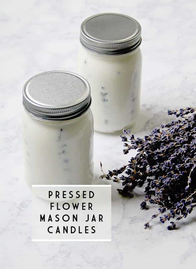 How to make pressed flower mason jar candles
