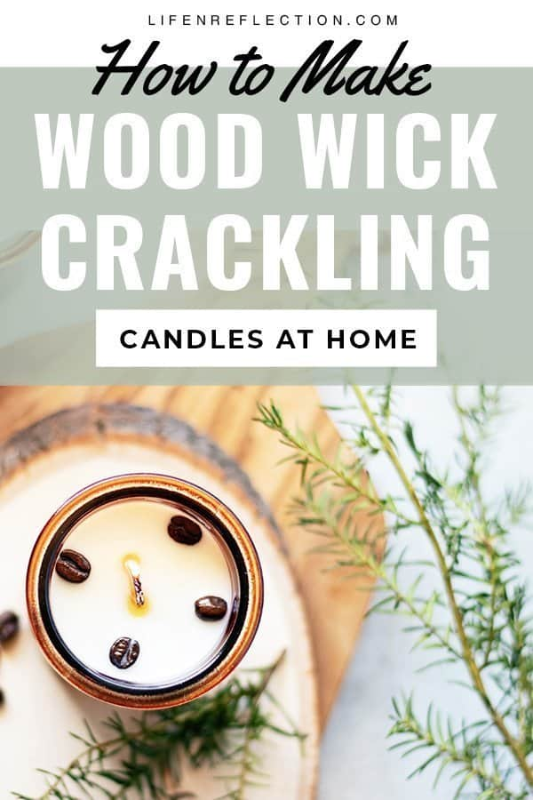 How to make wood wick candles to create popular cracking candles. Blended with coffee oil and roasted coffee beans, these wood wick soy candles are a great way to jump-start your day!