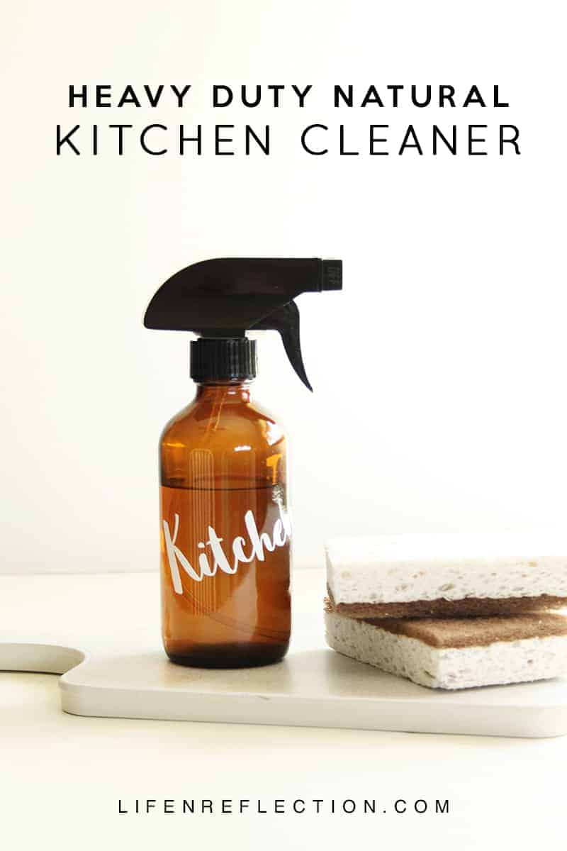 This DIY Natural Kitchen Cleaner works wonders to clean stove tops and ovens.