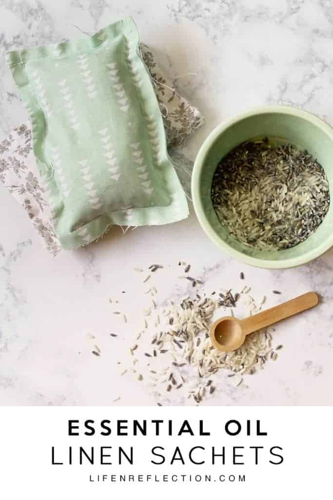 Easy homemade lavender linen sachets made with essential oil