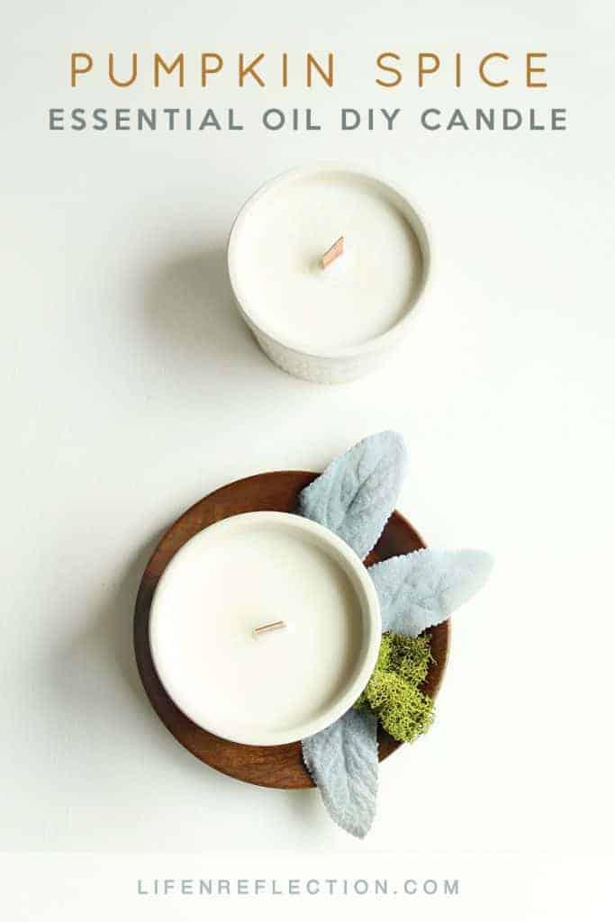 Fall Favorite DIY Essential Oil Pumpkin Spice Candles