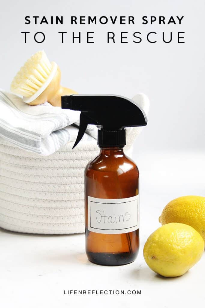 Remove even the toughest stains with this DIY natural stain remover spray.