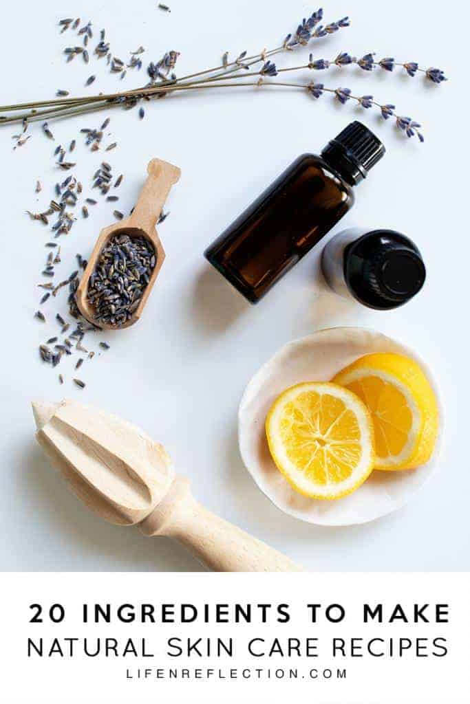 DIY Natural Skin Care Ingredients for homemade beauty recipes
