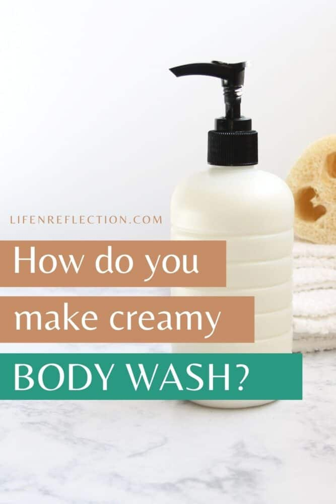 What makes this homemade body wash creamy and smooth?