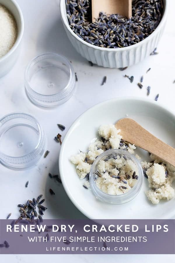 If you're dealing with dry or cracked lips, you'll want to soften then as fast as you can! Whip up this lavender lip scrub recipe in less than five minutes for soft, kissable lips!