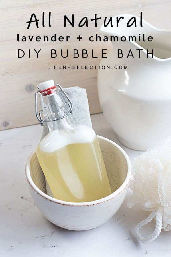 Is there anything more relaxing than a homemade bubble bath for your body and mind?