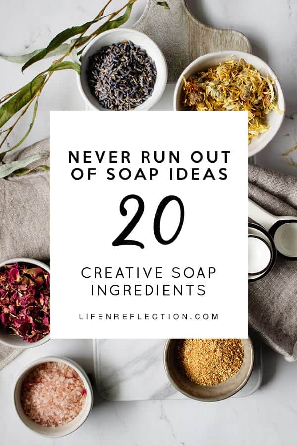 20 natural soap making ingredients to jump start your holiday crafting!