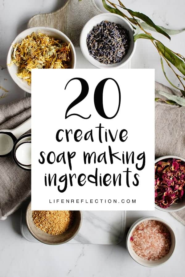 Never run out of soap making ideas with 20 creative soap ingredients!