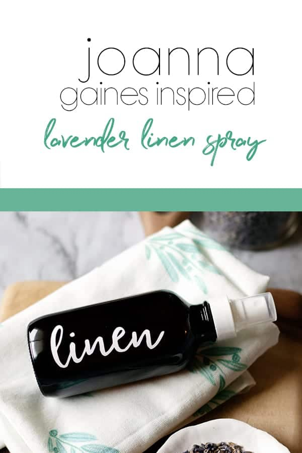 Refresh your space with a Joanna Gaines inspired DIY lavender linen spray!