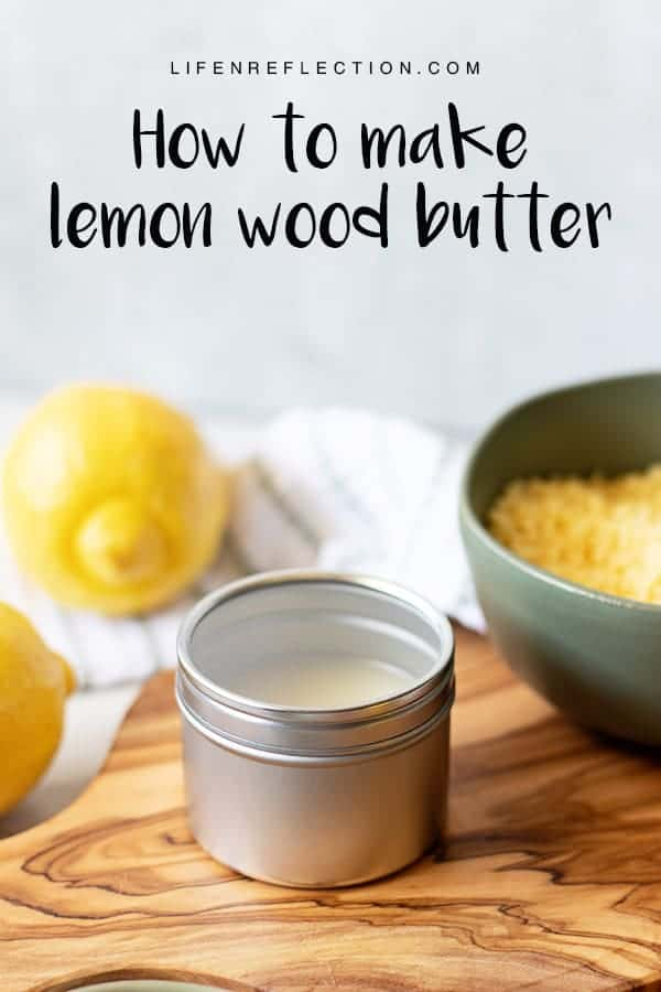 The BEST recipe for Lemon Conditioning Spoon Butter also known as wood butter for cutting board care and caring for wooden spoons!