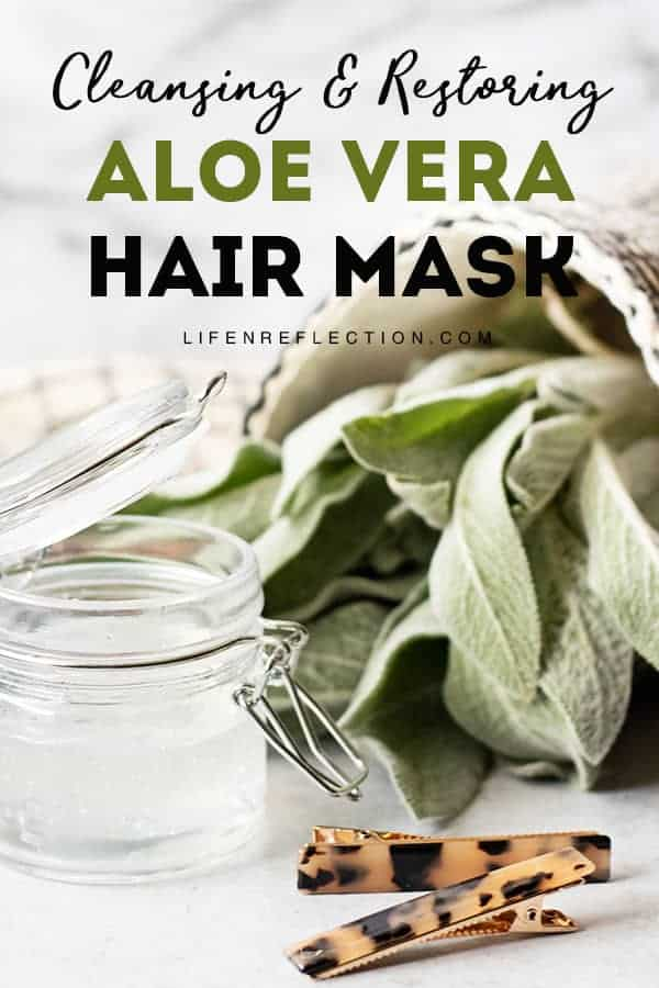 Make a DIY aloe vera hair mask infused with essential oils for hair, argan oil, and castor oil to not only remove build-up and soothe an irritated scalp, but also to strengthen hair follicles and create shiny, lustrous hair.