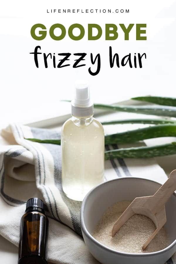 Say GOODBYE to Frizzy Hair - naturally tame your wild hairs with an easy DIY Anti Frizz Spray!