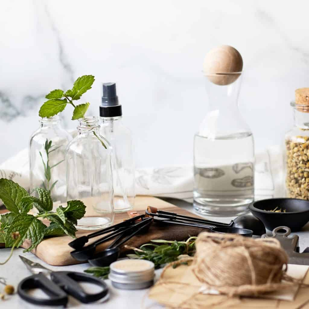 Make a hydrosol with dried herbs or fresh herbs. Combine herbs and flowers for unique blends!