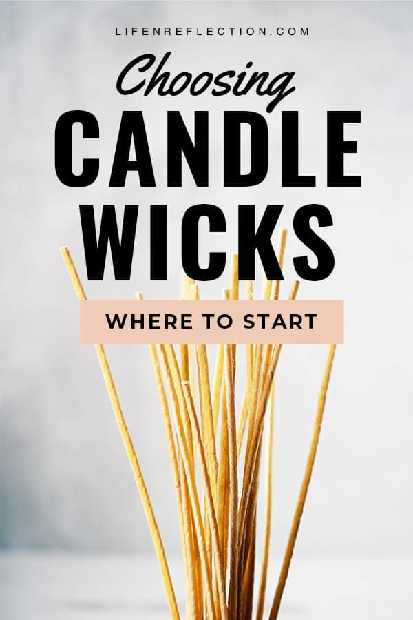 There are few things to determine before choosing your candle wick size from each candle wick size chart