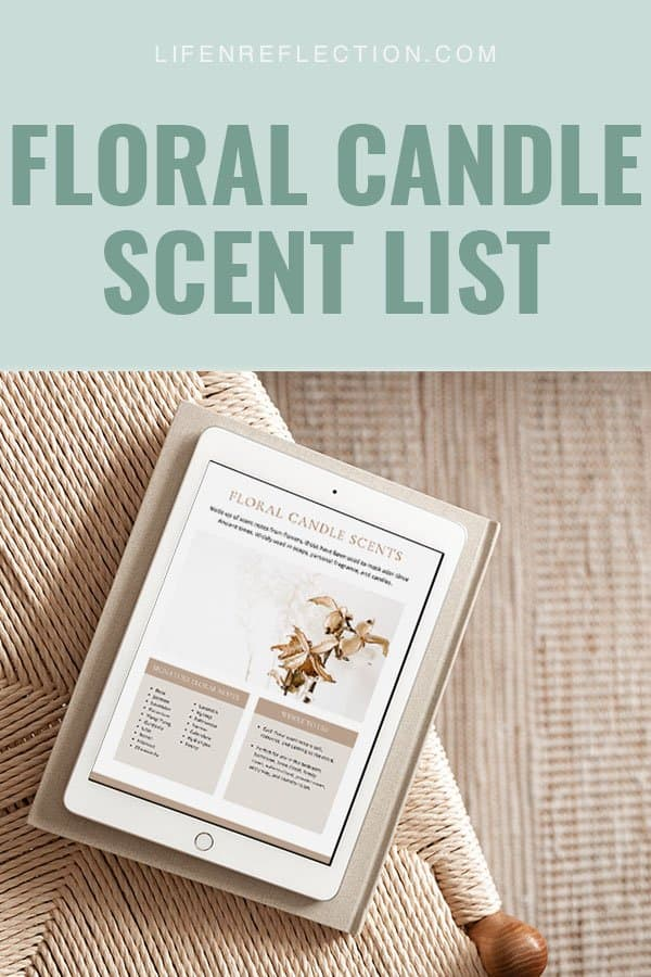 Find your best candle scents and a printable candle scent list.
