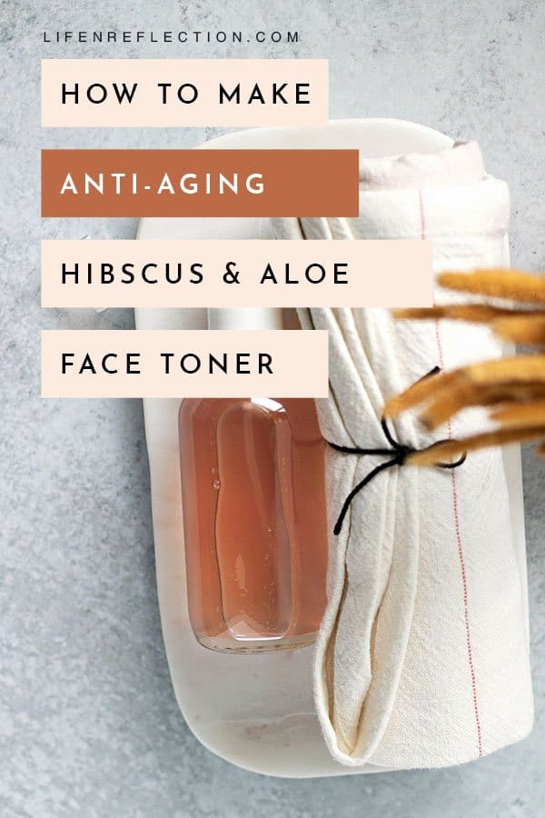 All in all this DIY toner is one of my best summer skin care tools. And I know you'll love it too - here's how to make a hibiscus toner.