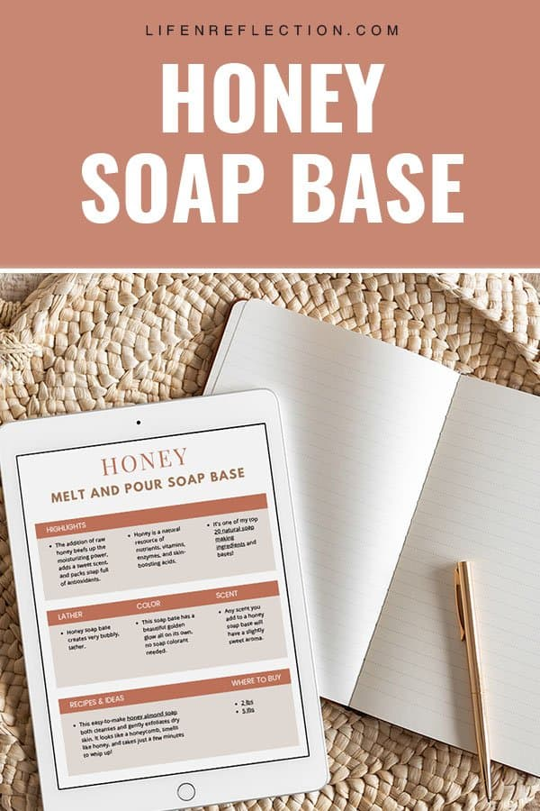 homemade soap making with honey melt and pour soap base
