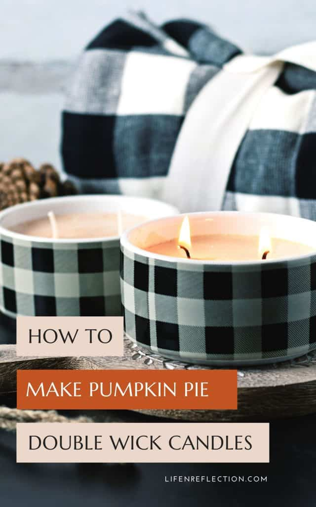 If you can't get enough pumpkin too, you're in luck, because these double wick candles are a fun twist on classic pumpkin pie! Here's how to make double wick candles.